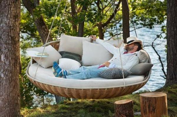 hängende liege rund und komfortabel zum entspannen