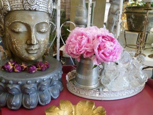 rosen buddha Vintage Silber Dekoration zu Hause