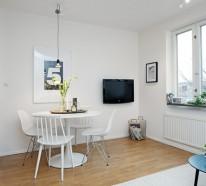 Helles gemütlich möbliertes Apartment in Göteborg mit einzigartigen Spritzern von Persönlichkeit