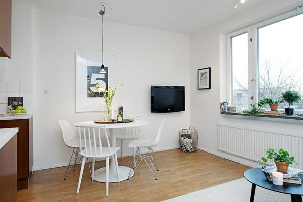 helles gemütliches apartment weiß esszimmer