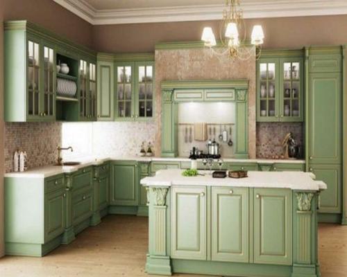 hellgrüne holz möbel küche interessant fliesen wand mosaik