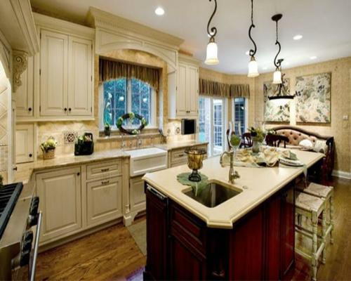 idee design küche ornamente gebogen formen