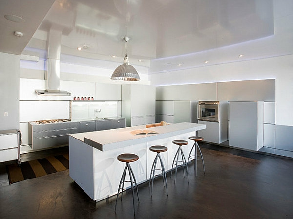 innovative küchenbar designs barhocker weiß konstruktion holz bodenbelag