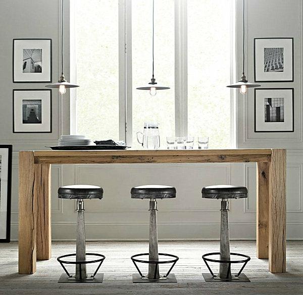innovative küchenbar designs barstühle hängelampen weiß einrichtung