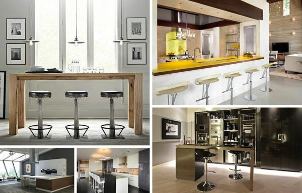 innovative küchenbar designs barstühle holz tischplatte