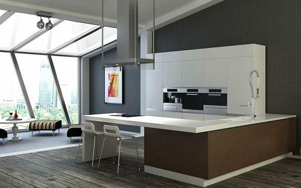 innovative küchenbar designs weiß farbe modern interior