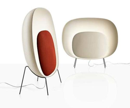 innovatives stehlampe design originell weiß orange