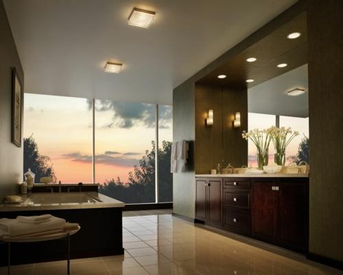integrierte beleuchtung zu hause deckeneinbauleuchten badezimmer - Deckenbeleuchtung Bad
