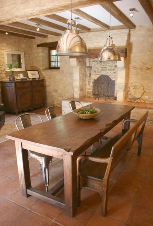 interieur designs im italienischen stil rustikal küche pendelleuchten