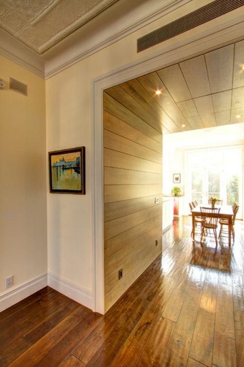 interior design im landhausstil einrichten holz wandgestaltung platten