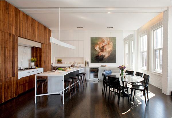 interior design mythen moderne wandkunst esstisch aus glas weiße kücheninsel
