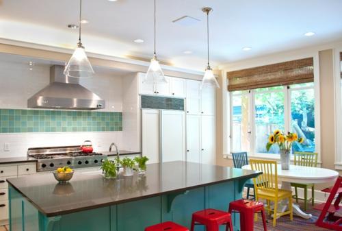 Interior Designs In Rot Weiss Und Blau Idee Esszimmer Pendelleuchten