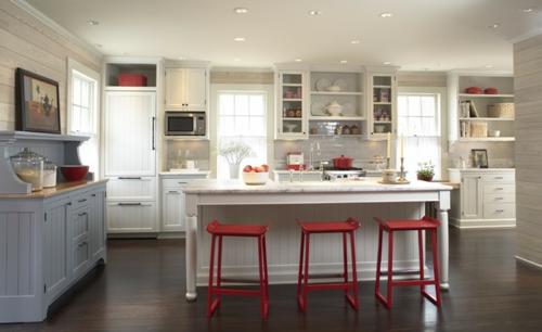 15 farbigen Interior Designs in Rot, Weiß und Blau. Los geht es!