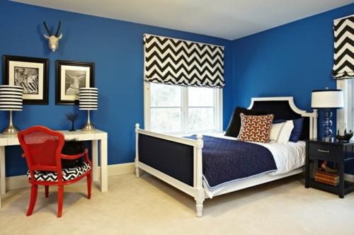 download schlafzimmer blau | villaweb, Modernes haus