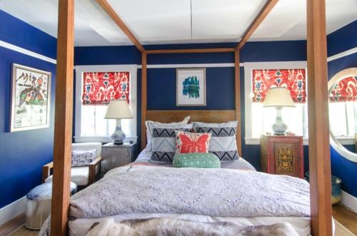 schlafzimmer rot blau ~ beste ideen für moderne innenarchitektur - Schlafzimmer Rot Blau
