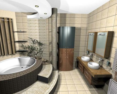 jacuzzi badezimmer deckenbeleuchtung indirekt schrank waschbecken