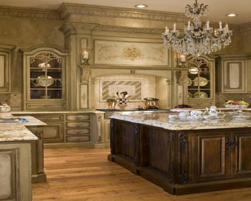 küche einrichtung rustikal klassisch pompös