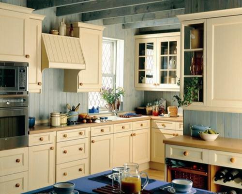 küche schrank schubladen regale vintage stil