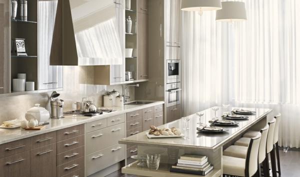 küche upgraden klassisch einrichtung weiß gardinen regal offen