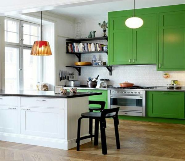 küche upgraden klassisch einrichtung weiß grün arbeitsplatte