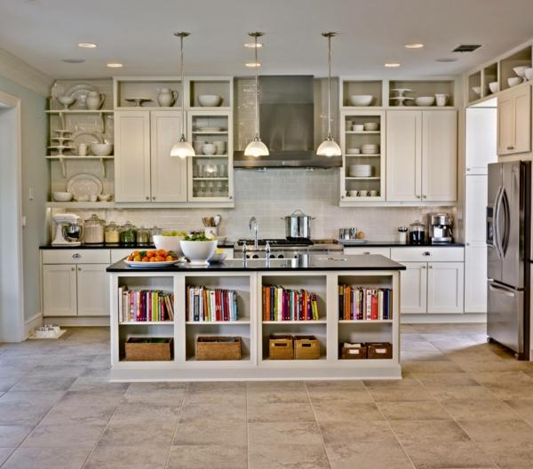 die alte küche neu gestalten arbeitsplatte bücherregale