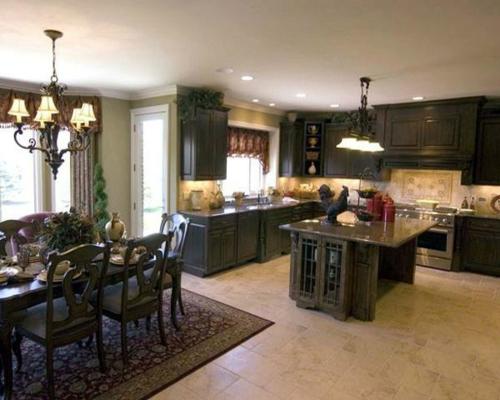küchen essbereich stühle teppich grau monochromatisch design