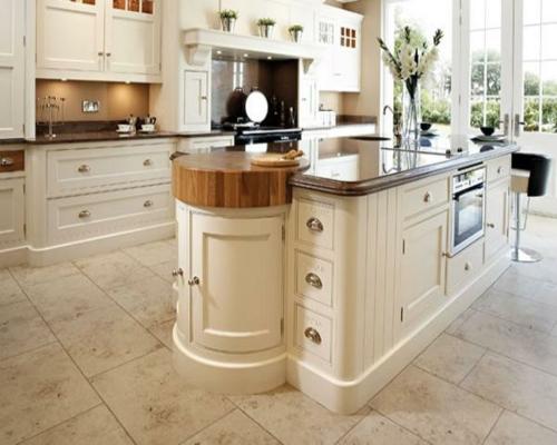 kücheninsel weiß schubladen schrank spüle