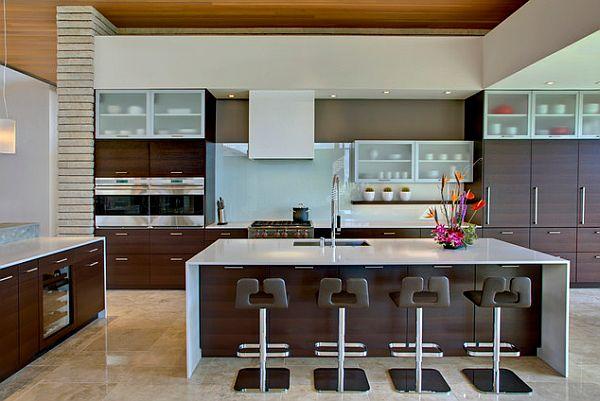 küchenschrank designs küche stühle glas türen eingebaut