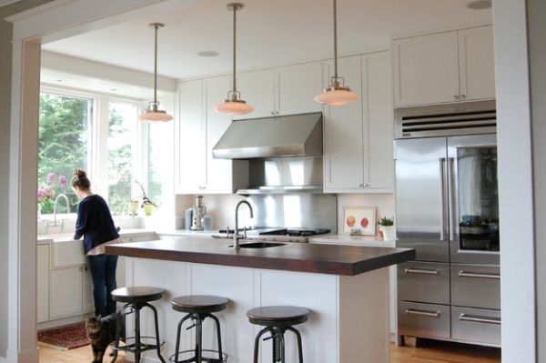 kühlschrank glastüren ideen küche design spüle kochherd