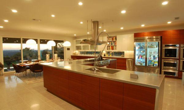 kühlschrank glastüren ideen küche zeitgenössisch durchsichtig