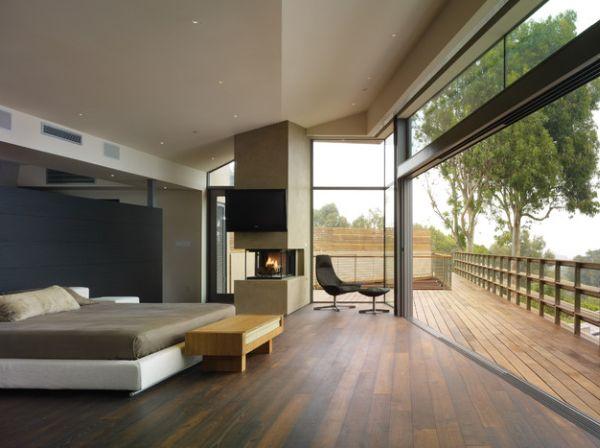 kamine mit verglasung modern wohnung graue farben minimalistisch