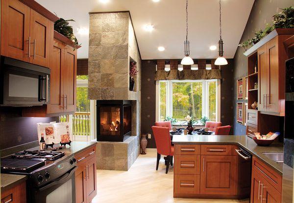 kamine mit verglasung modern wohnung küche wohnbereich
