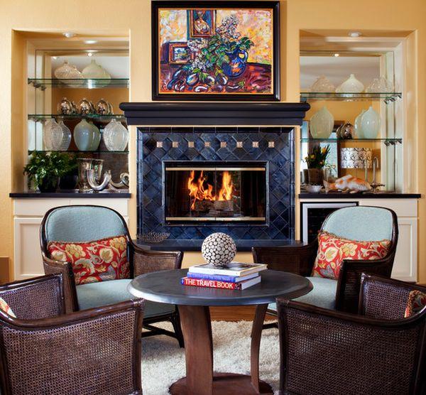 kamine mit verglasung modern wohnung sessel tisch bild