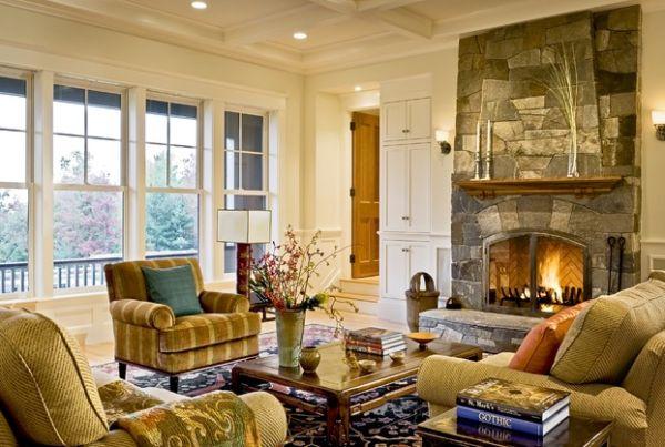 kamine mit verglasung modern wohnung traditionell warm ambiente