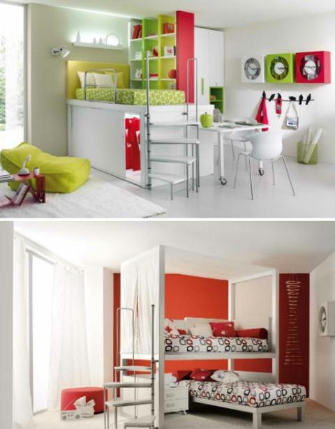 klasse kinderzimmer design - kreative und lustige gestaltungsideen - Kinderzimmer Grun Orange