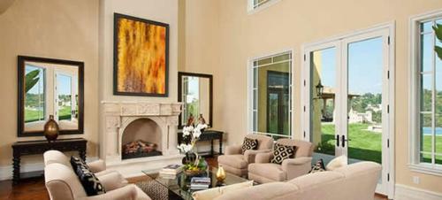 Das wohnzimmer attraktiv einrichten 70 originelle moderne designs - Olympo kamin set fur das wohnzimmer ...
