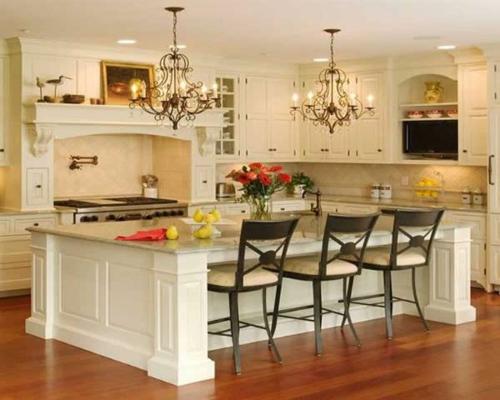 klassisch weiß eingerichtet küche stühle auflagen