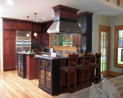klein küchenbereich wohnung dunkel oberflächen