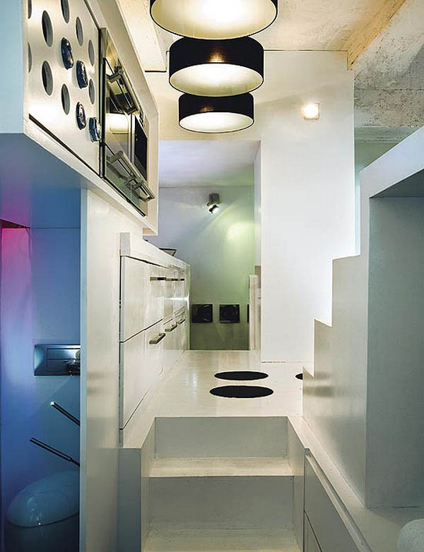 kleines designer  apartment lampen schwarz lampschirm