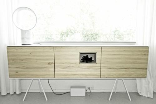 Kommode Holz Modern : NATÜRLICH COOL: Moderne Holz Akzente im Interior Design von Micklish