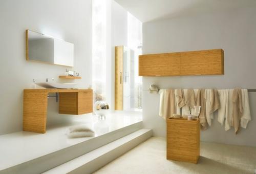 komplett weiß badezimmer holz ausstattung design bilder