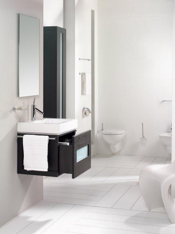 kreative badezimmer gestaltung aufbewahren neutrale farben kompakt