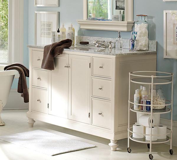 kreative badezimmer gestaltung waschbecken schrank weiß massiv
