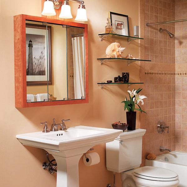 kreative badezimmer gestaltung und organisation waschbecken wandschrank