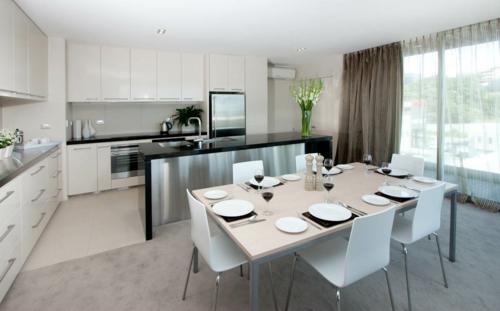 kreative küchen designs essbereich weiße einrichtung