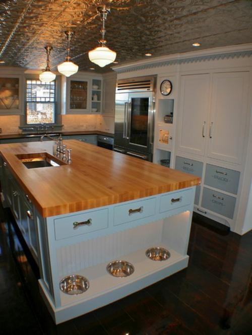 kreative küchen designs holz arbeitsplatte wohnlich einrichtung