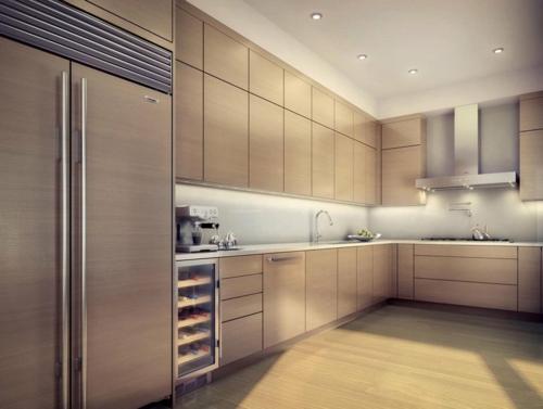 kreative küchen designs holz eingebaut küchenschränke kühlschrank