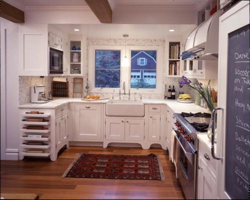 kreative küchen designs holz küchenarbeitsplatte weiß fenster