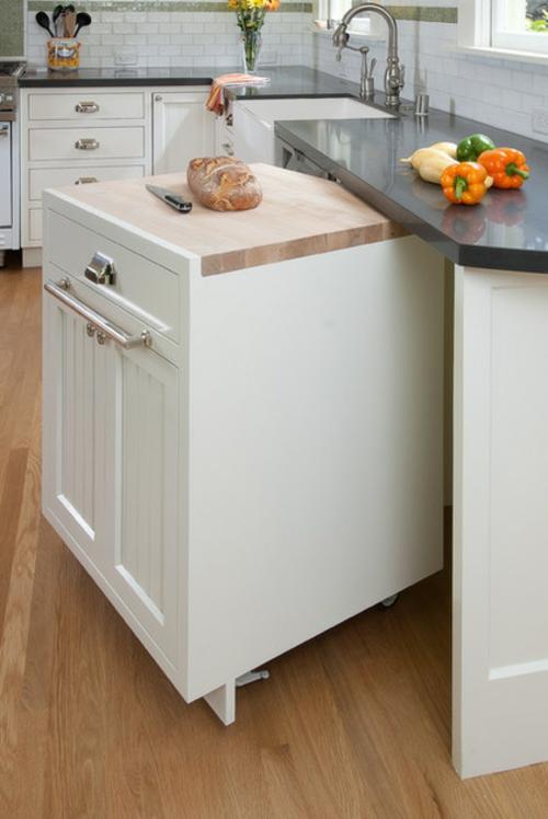 kreative küchen designs waschmasische idee lagerung
