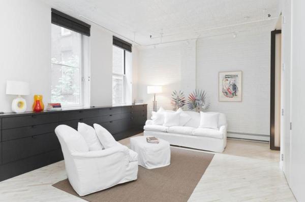 Loft Wohnung Schwarz Weis Interieur Design | loft design mit schwarzwei em interior m bel